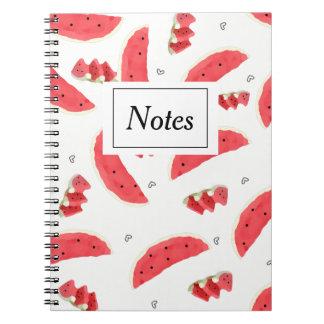 Notizbuch mit Photowassermelonen Notizblock