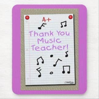 Notizbuch-Papier danken Ihnen Musik-Lehrer Mousepads