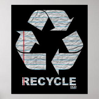 Notizbuch recyceln Plakat
