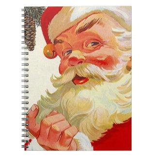 Notizbuch-Weihnachtsfeiertagguestbook-offenes Haus Spiral Notizblock