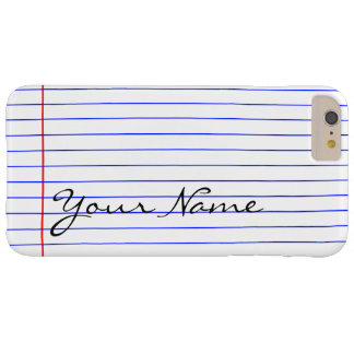 Notizbuch zeichnet (setzen Sie Ihren Namen) Barely There iPhone 6 Plus Hülle