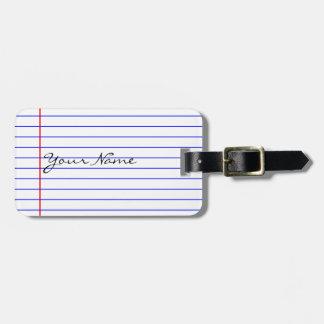 Notizbuch zeichnet (setzen Sie Ihren Namen) Kofferanhänger