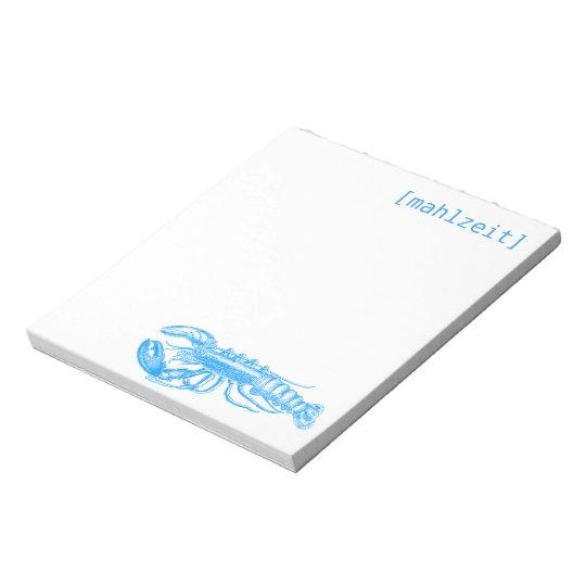 Notizkarten für Restaurants Notizblock
