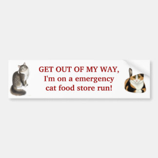 Notkatzen-NahrungsmittellaufAutoaufkleber Autoaufkleber