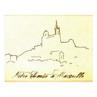 Notre Dame à Marseille Postkarte