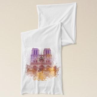 Notre Dame de Paris, Frankreich-Aquarellentwurf Schal