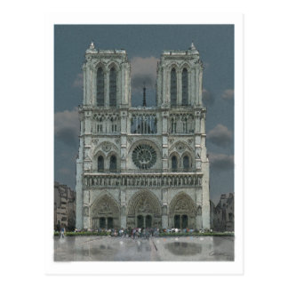 Notre Dame-Fassadenpostkarte Postkarte