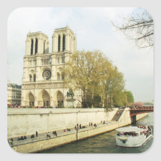 Notre Dame-Kathedrale Quadratischer Aufkleber
