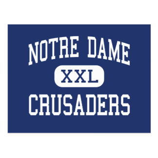 Notre Dame - Kreuzfahrer - hoch - Fitchburg Postkarte
