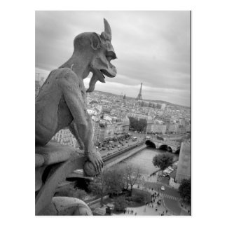 Notre Dame-Wasserspeier-Postkarte
