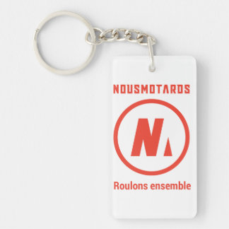 """Nousmotards-Schlüsselbund """"Roulons zusammen """" Schlüsselanhänger"""