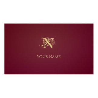 Nouveau hochrotes Goldenes Visitenkarten