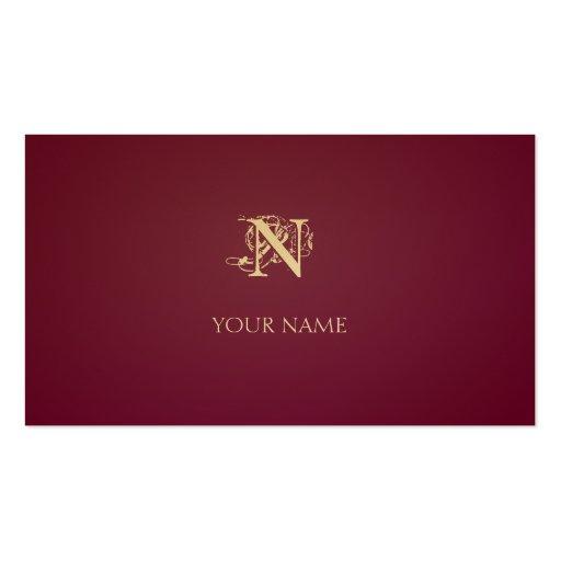 Nouveau hochrotes Goldenes Visitenkartenvorlage