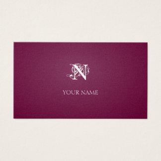 Nouveau hochrotes Goldenes Visitenkarte