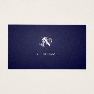 Nouveau Indigo golden Visitenkarte