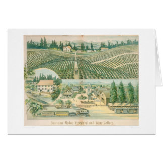 Nouveau Medoc Weinberg und Weinkeller (1213A) Karte