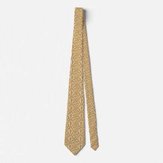 Nouveau - Pilz abstrakt - Karamell-Creme Krawatte