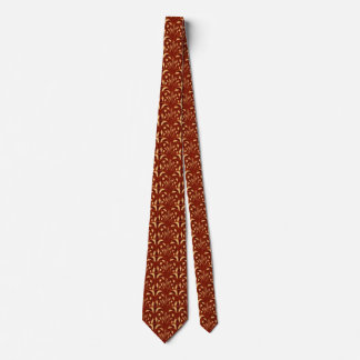Nouveau - Pilz abstrakt - Tapisserie-Rot u. Gold Krawatte