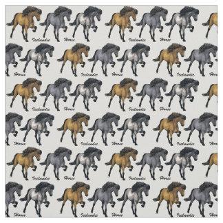 Nouvelle-Mode-Isländer-Pferd Stoff