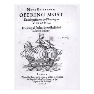Nova Britannia. Offring das meiste ausgezeichnete Postkarte