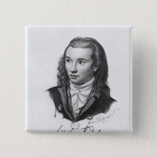 Novalis 1845 quadratischer button 5,1 cm