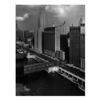 November 1939:  Die Stadt von Chicago Postkarte