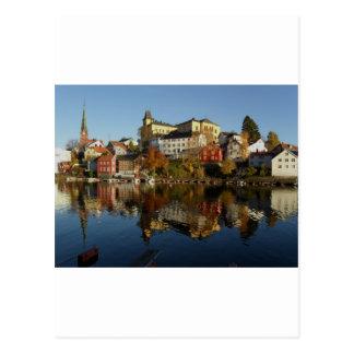 Novemberday in Arendal Postkarte