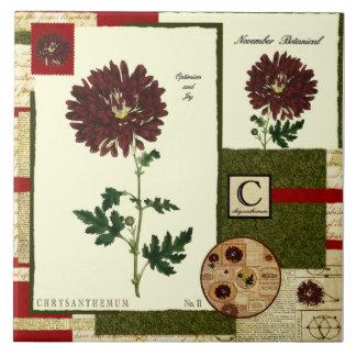 Novembers Blume Große Quadratische Fliese