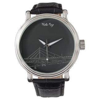 Novi Sad-Vojvodina-nostalgische elegante Skizze Uhr