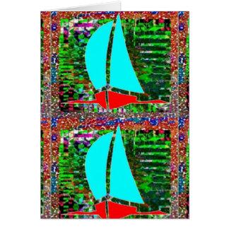 NOVINO: ART101 deckte Muster mit Ziegeln Grußkarte