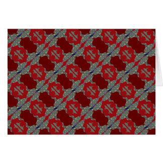 NOVINO: ART101 deckte Muster mit Ziegeln Karte