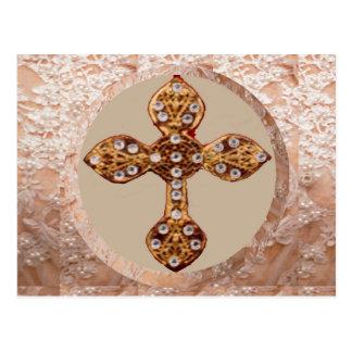 NOVINO Kreuz mit Diamanten Postkarte
