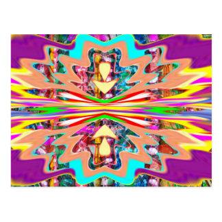 NOVINO Unterzeichnungs-Kunst-Schein-Wellen-lila Postkarten