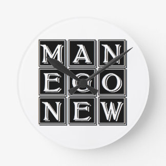 Now new man runde wanduhr