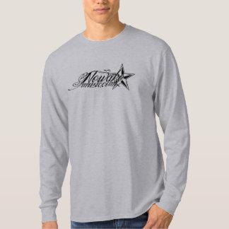 NOWAKE Tinten-Logo-lange Hülse T-Shirt
