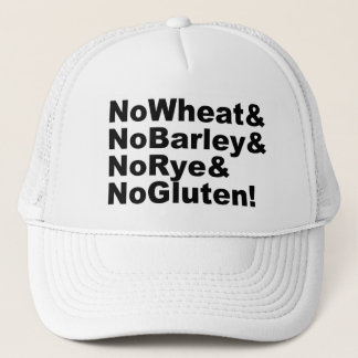 NoWheat&NoBarley&NoRye&NoGluten! (Schwarzes) Truckerkappe