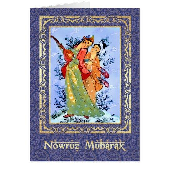 Grus Karten: Nowruz Mubarak. Persische Neues Jahr-Gruß-Karten Karte