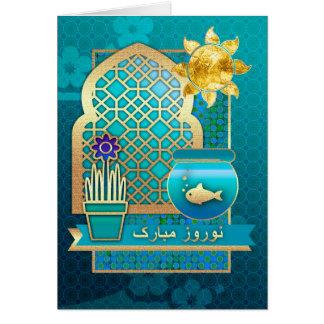 Nowruz Mubarak. Persische neues Jahr-Karten auf Karte