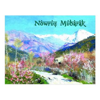 Nowruz Mubarak. Persische neues Jahr-Postkarten Postkarte