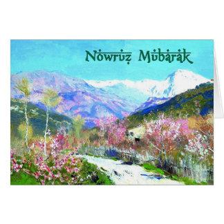 Nowruz Mubarak. Persische neues Karte