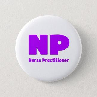 NP-Krankenschwester-Praktiker lila Runder Button 5,1 Cm