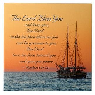 Nr. 6 24-26 der Lord segnen Sie und behalten Sie Fliese