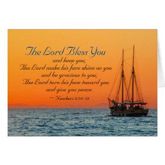Nr. 6 24-26 der Lord segnen Sie und behalten Sie Karte