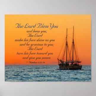 Nr. 6 24-26 der Lord segnen Sie und behalten Sie Poster