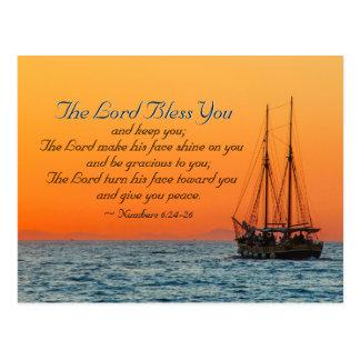 Nr. 6 24-26 der Lord segnen Sie und behalten Sie Postkarte