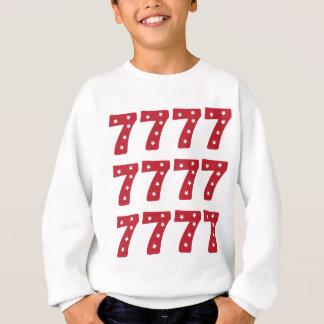Nr. 7 - Weiß-Sterne auf dunkelrotem Sweatshirt