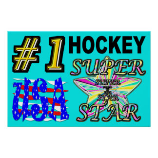 Nr. eine USA-Hockey-Superstar Poster