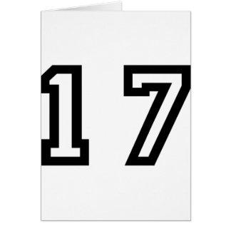 Nr. siebzehn karte