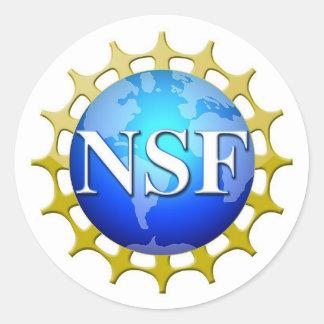 NSF-Logo durch Antrag Runder Aufkleber