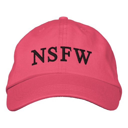 NSFW Hut rosa Damen Baseballkappe